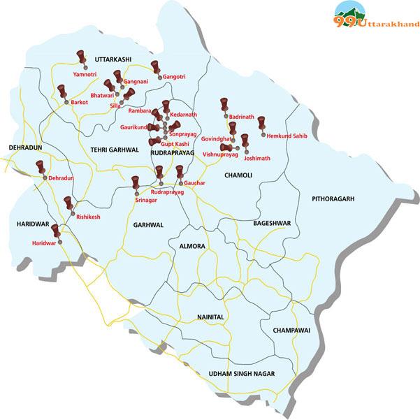 Image result for Uttarakhand Maps